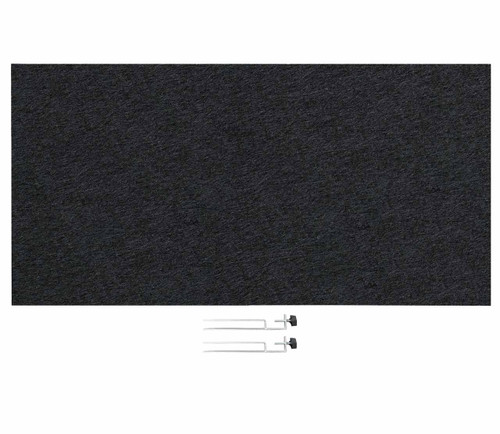 "SoundSorb Desktop Privacy Panels 48"" x 24"" Black High Density Polyester Edge Clip"