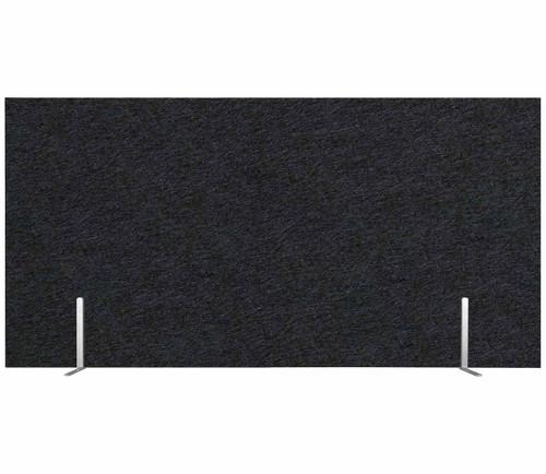 "SoundSorb Desktop Privacy Panels 48"" x 24"" Black High Density Polyester Freestanding"