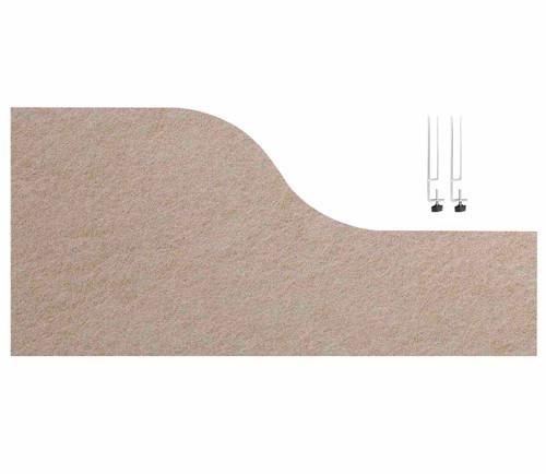 """SoundSorb Desktop Privacy Panels 48"""" x 12""""-24"""" Wave Beige High Density Polyester Edge Clip"""