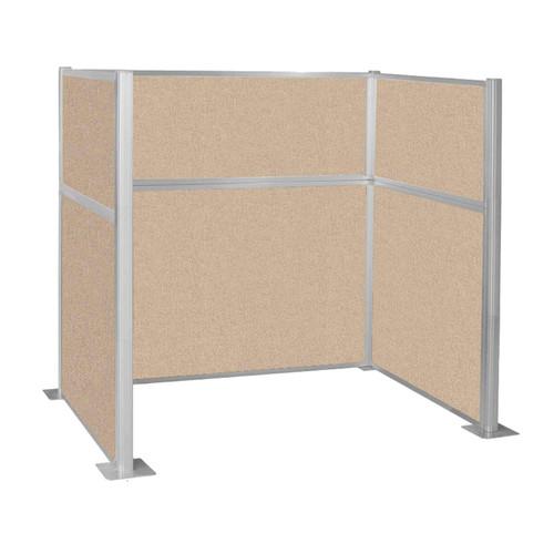 Hush Panel Kit Single Cube (U Shape) 6' x 4' Single Cube Beige Fabric 6' x 4' Single Cube Beige Fabric