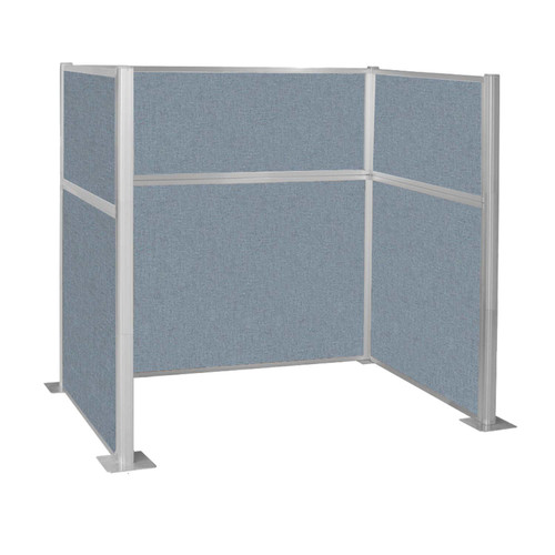 Hush Panel Kit Single Cube (U Shape) 6' x 4' Single Cube Powder Blue Fabric 6' x 4' Single Cube Powder Blue Fabric
