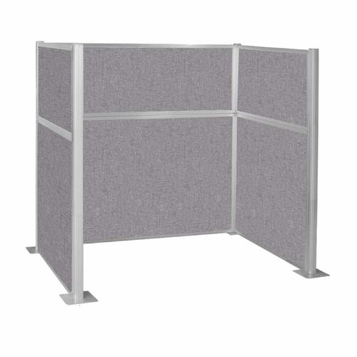 Hush Panel Kit Single Cube (U Shape) 6' x 4' Single Cube Cloud Gray Fabric 6' x 4' Single Cube Cloud Gray Fabric