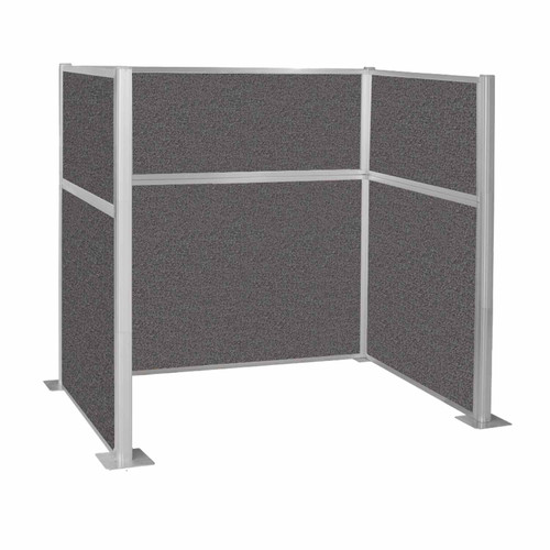 Hush Panel Kit Single Cube (U Shape) 6' x 4' Single Cube Charcoal Gray Fabric 6' x 4' Single Cube Charcoal Gray Fabric