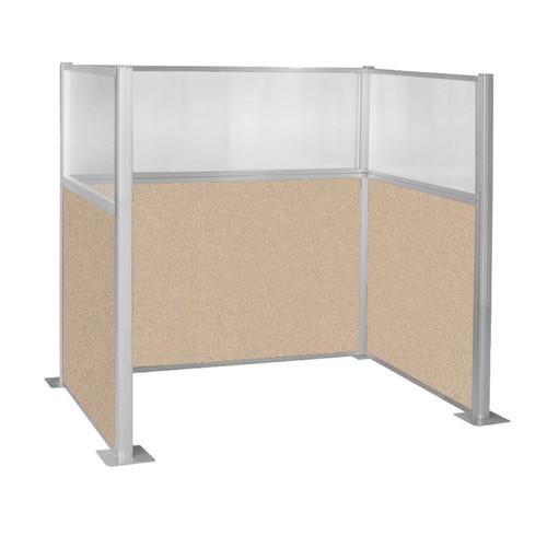 Hush Panel Kit Single Cube (U Shape) 6' x 4' Single Cube W/ Window Beige Fabric 6' x 4' Single Cube W/ Window Beige Fabric
