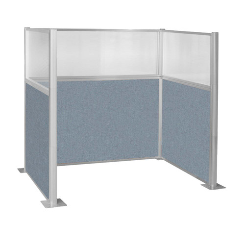 Hush Panel Kit Single Cube (U Shape) 6' x 4' Single Cube W/ Window Powder Blue Fabric 6' x 4' Single Cube W/ Window Powder Blue Fabric