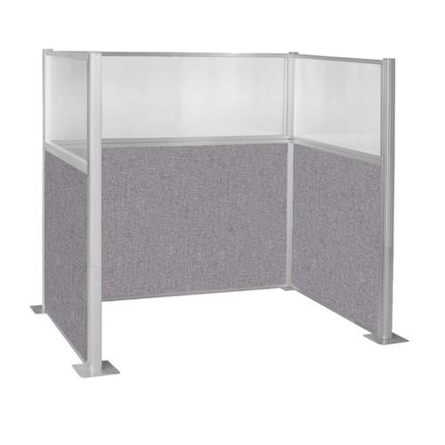 Hush Panel Kit Single Cube (U Shape) 6' x 4' Single Cube W/ Window Cloud Gray Fabric 6' x 4' Single Cube W/ Window Cloud Gray Fabric