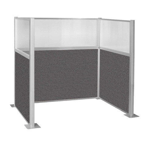 Hush Panel Kit Single Cube (U Shape) 6' x 4' Single Cube W/ Window Charcoal Gray Fabric 6' x 4' Single Cube W/ Window Charcoal Gray Fabric