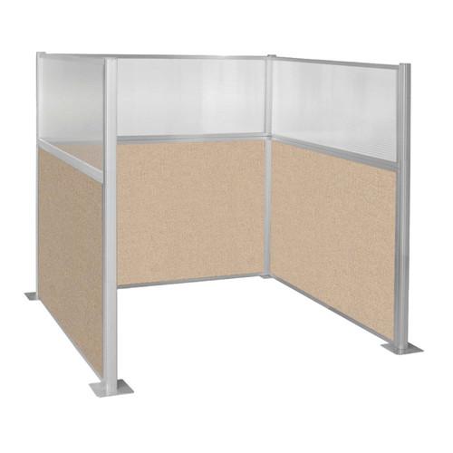 Hush Panel Kit Single Cube (U Shape) 6' x 6' Single Cube W/ Window Beige Fabric 6' x 6' Single Cube W/ Window Beige Fabric