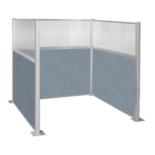 Hush Panel Kit Single Cube (U Shape) 6' x 6' Single Cube W/ Window Powder Blue Fabric 6' x 6' Single Cube W/ Window Powder Blue Fabric