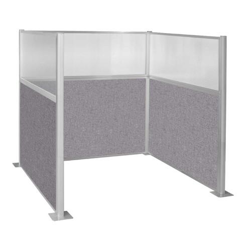 Hush Panel Kit Single Cube (U Shape) 6' x 6' Single Cube W/ Window Cloud Gray Fabric 6' x 6' Single Cube W/ Window Cloud Gray Fabric