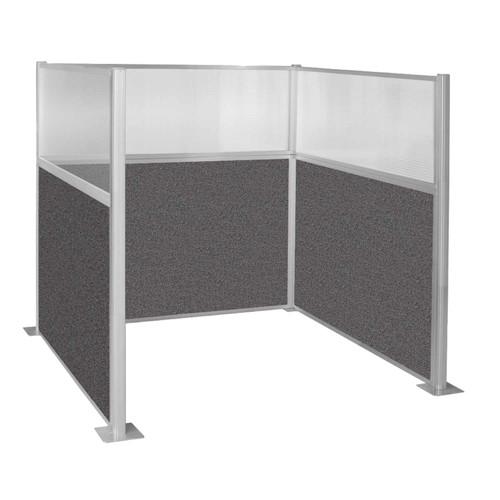 Hush Panel Kit Single Cube (U Shape) 6' x 6' Single Cube W/ Window Charcoal Gray Fabric 6' x 6' Single Cube W/ Window Charcoal Gray Fabric
