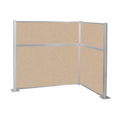 Hush Panel Kit (L Shape) 6' x 4' L-Build Beige Fabric 6' x 4' L-Build Beige Fabric
