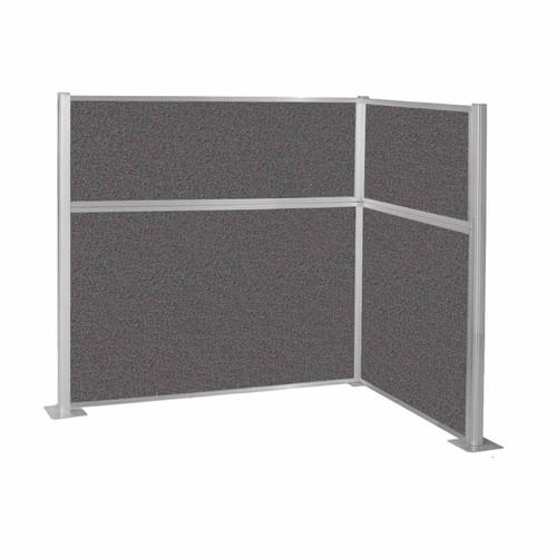 Hush Panel Kit (L Shape) 6' x 4' L-Build Charcoal Gray Fabric 6' x 4' L-Build Charcoal Gray Fabric