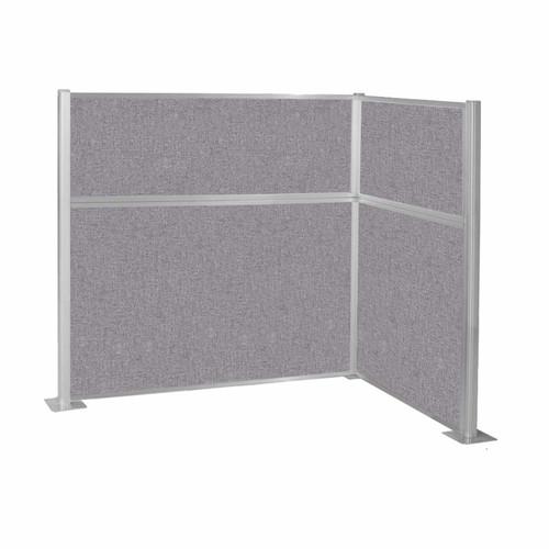 Hush Panel Kit (L Shape) 6' x 4' L-Build Cloud Gray Fabric 6' x 4' L-Build Cloud Gray Fabric
