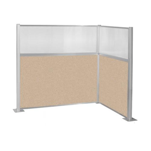 Hush Panel Kit (L Shape) 6' x 4' L-Build w/ Window Beige Fabric 6' x 4' L-Build w/ Window Beige Fabric