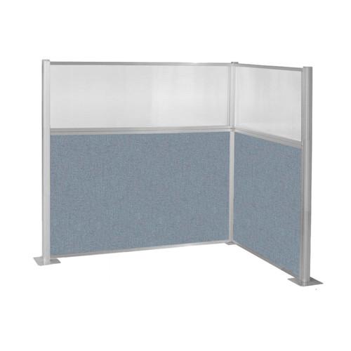 Hush Panel Kit (L Shape) 6' x 4' L-Build w/ Window Powder Blue Fabric 6' x 4' L-Build w/ Window Powder Blue Fabric