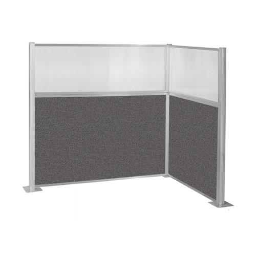 Hush Panel Kit (L Shape) 6' x 4' L-Build w/ Window Charcoal Gray Fabric 6' x 4' L-Build w/ Window Charcoal Gray Fabric