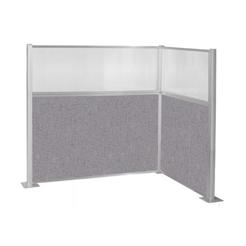 Hush Panel Kit (L Shape) 6' x 4' L-Build w/ Window Cloud Gray Fabric 6' x 4' L-Build w/ Window Cloud Gray Fabric