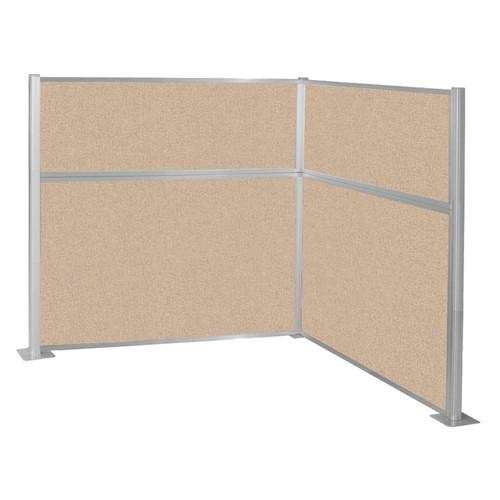 Hush Panel Kit (L Shape) 6' x 6' L-Build Beige Fabric 6' x 6' L-Build Beige Fabric