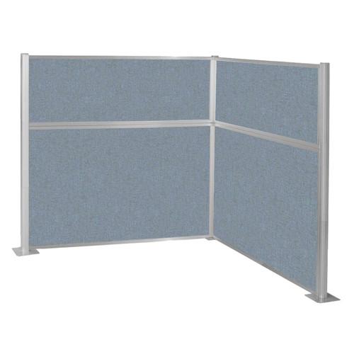 Hush Panel Kit (L Shape) 6' x 6' L-Build Powder Blue Fabric 6' x 6' L-Build Powder Blue Fabric