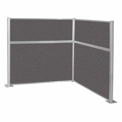 Hush Panel Kit (L Shape) 6' x 6' L-Build Charcoal Gray Fabric 6' x 6' L-Build Charcoal Gray Fabric