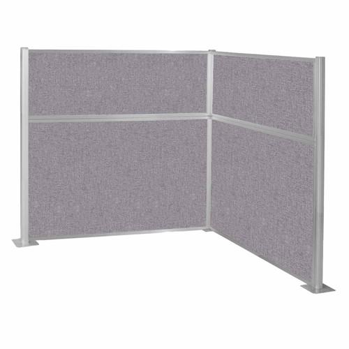 Hush Panel Kit (L Shape) 6' x 6' L-Build Cloud Gray Fabric 6' x 6' L-Build Cloud Gray Fabric