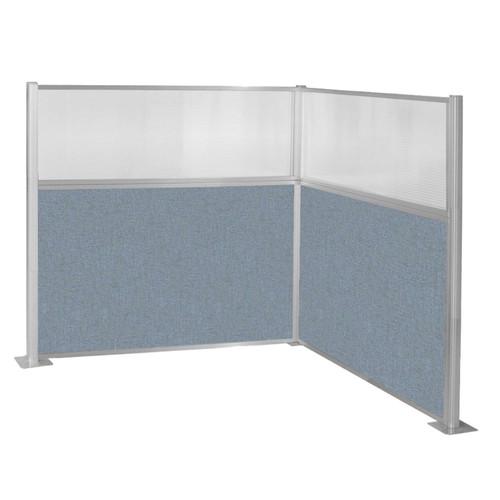 Hush Panel Kit (L Shape) 6' x 6' L-Build W/ Window Powder Blue Fabric 6' x 6' L-Build W/ Window Powder Blue Fabric