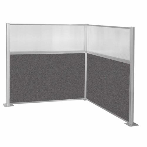 Hush Panel Kit (L Shape) 6' x 6' L-Build W/ Window Charcoal Gray Fabric 6' x 6' L-Build W/ Window Charcoal Gray Fabric