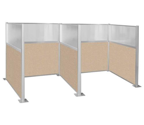Hush Panel Kit Double Cube 6' x 6' W/ Window Beige Fabric 6' x 6' W/ Window Beige Fabric