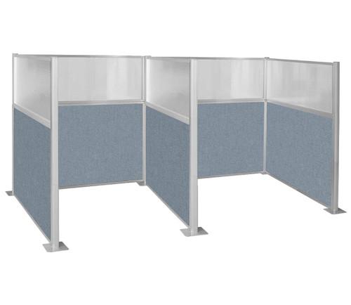 Hush Panel Kit Double Cube 6' x 6' W/ Window Powder Blue Fabric 6' x 6' W/ Window Powder Blue Fabric