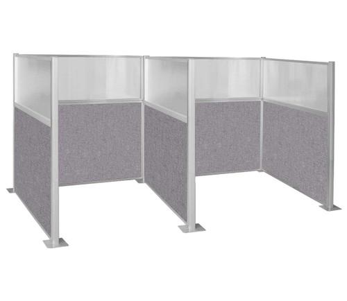 Hush Panel Kit Double Cube 6' x 6' W/ Window Cloud Gray Fabric 6' x 6' W/ Window Cloud Gray Fabric