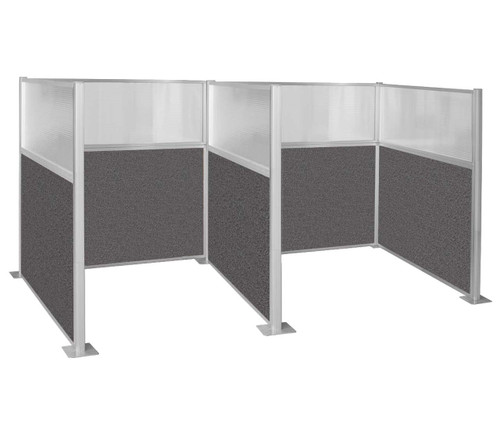 Hush Panel Kit Double Cube 6' x 6' W/ Window Charcoal Gray Fabric 6' x 6' W/ Window Charcoal Gray Fabric