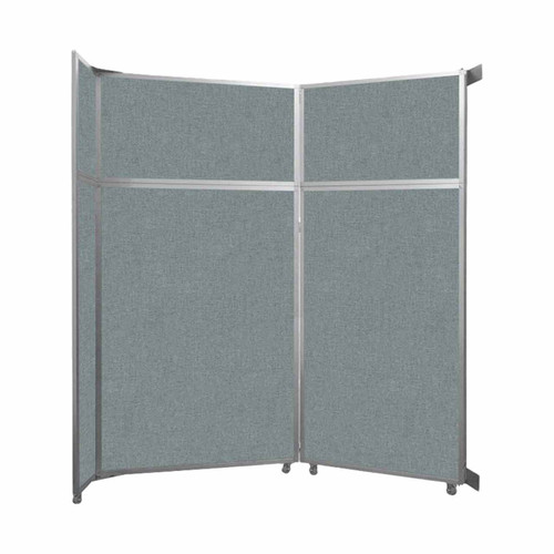 "Operable Wall Folding Room Divider 7'11"" x 8'5-1/4"" Sea Green Fabric"