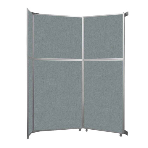 """Operable Wall Folding Room Divider 7'11"""" x 10'3/4"""" Sea Green Fabric"""
