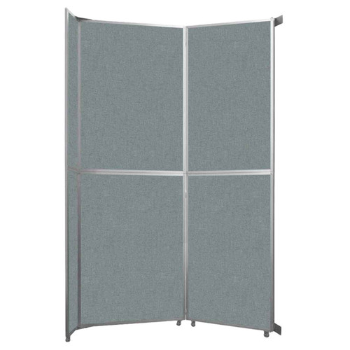 """Operable Wall Folding Room Divider 7'11"""" x 12'3"""" Sea Green Fabric"""