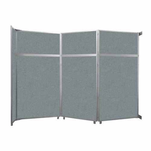 """Operable Wall Folding Room Divider 11'9"""" x 8'5-1/4"""" Sea Green Fabric"""