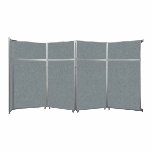 "Operable Wall Folding Room Divider 15'7"" x 8'5-1/4"" Sea Green Fabric"