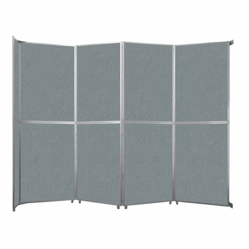 """Operable Wall Folding Room Divider 15'7"""" x 12'3"""" Sea Green Fabric"""