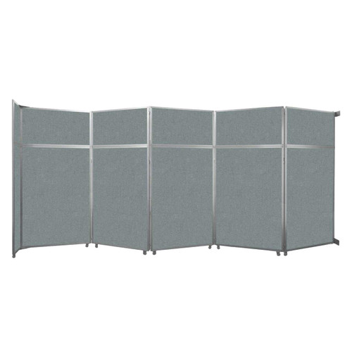 """Operable Wall Folding Room Divider 19'6"""" x 8'5-1/4"""" Sea Green Fabric"""
