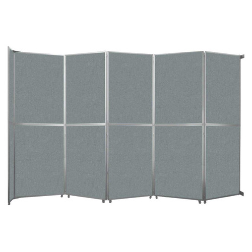 """Operable Wall Folding Room Divider 19'6"""" x 12'3"""" Sea Green Fabric"""