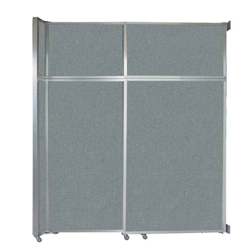 """Operable Wall Sliding Room Divider 6'10"""" x 8'5-1/4"""" Sea Green Fabric"""