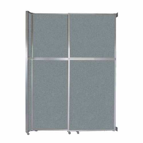 """Operable Wall Sliding Room Divider 6'10"""" x 10'3/4"""" Sea Green Fabric"""