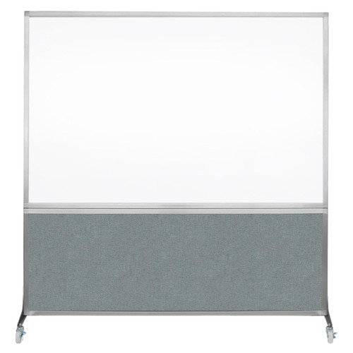 DivideWrite Portable Whiteboard Partition 6' x 6' Sea Green Fabric