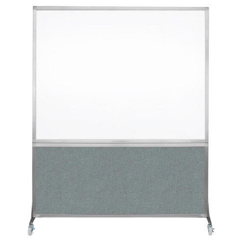 DivideWrite Portable Whiteboard Partition 5' x 6' Sea Green Fabric