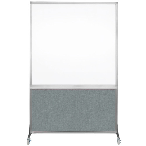 DivideWrite Portable Whiteboard Partition 4' x 6' Sea Green Fabric