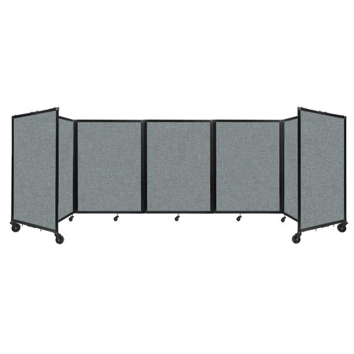 Room Divider 360 Folding Portable Partition 14' x 4' Sea Green Fabric
