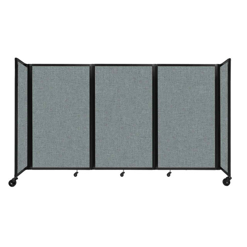 """Room Divider 360 Folding Portable Partition 8'6"""" x 5' Sea Green Fabric"""