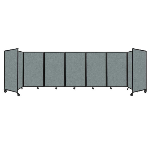 """Room Divider 360 Folding Portable Partition 19'6"""" x 5' Sea Green Fabric"""