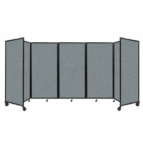 Room Divider 360 Folding Portable Partition 14' x 6' Sea Green Fabric