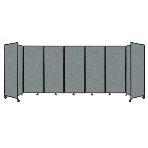 """Room Divider 360 Folding Portable Partition 19'6"""" x 6'10"""" Sea Green Fabric"""